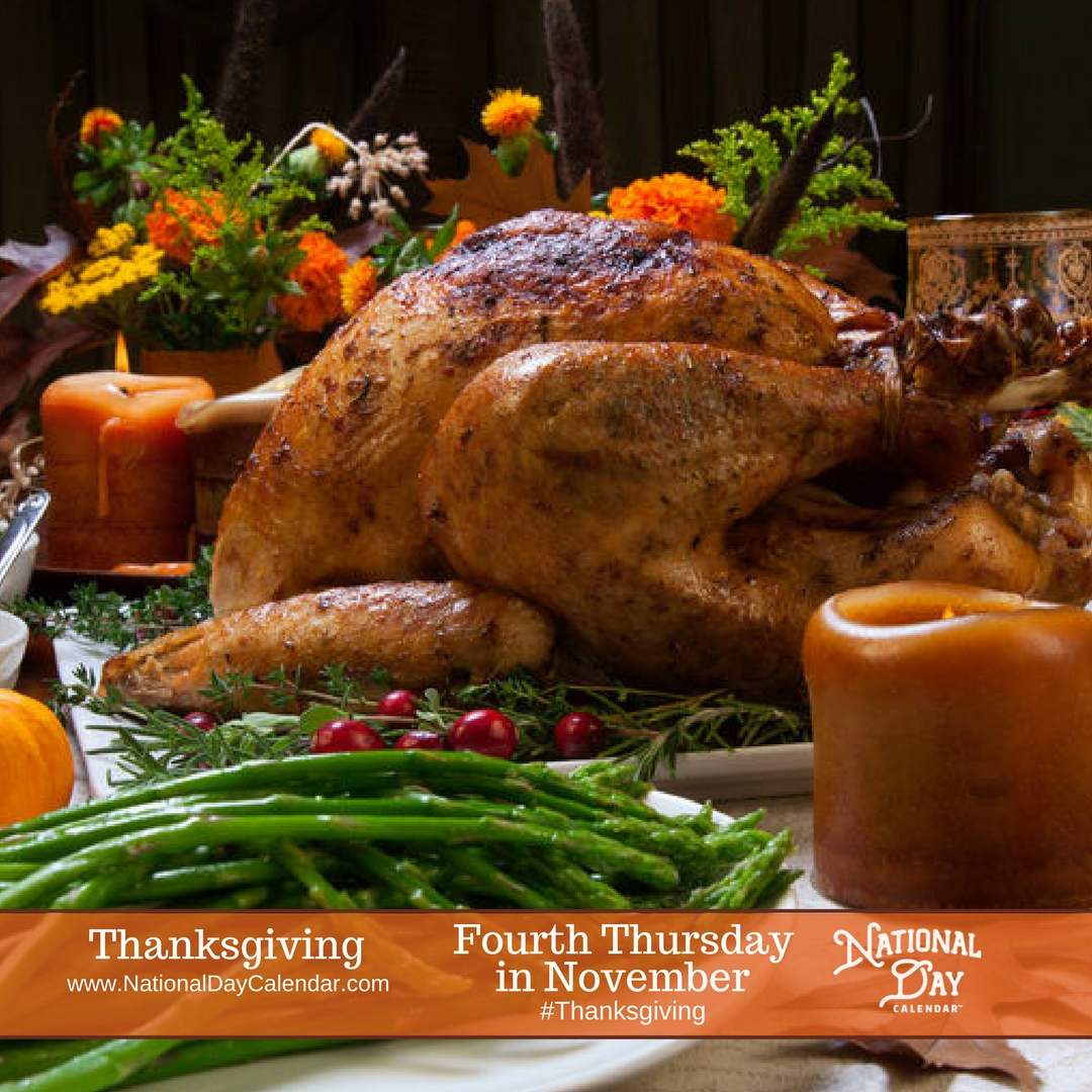 November 22, 2018  Thanksgiving Day  Turkey Free intended for National Day Calendar At A Glance
