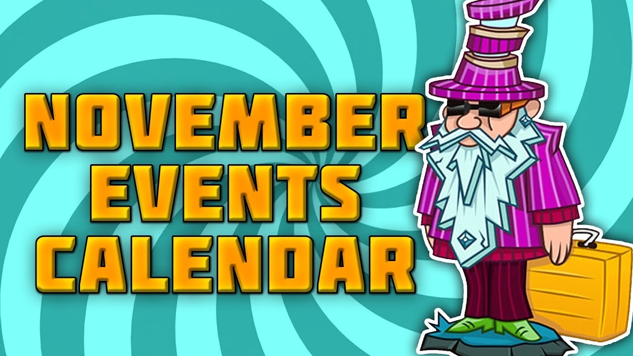 November Events Calendar  Plants Vs Zombies Garden Warfare 2 regarding Plants Vs Zombies Garden Warfare 2 Calendar