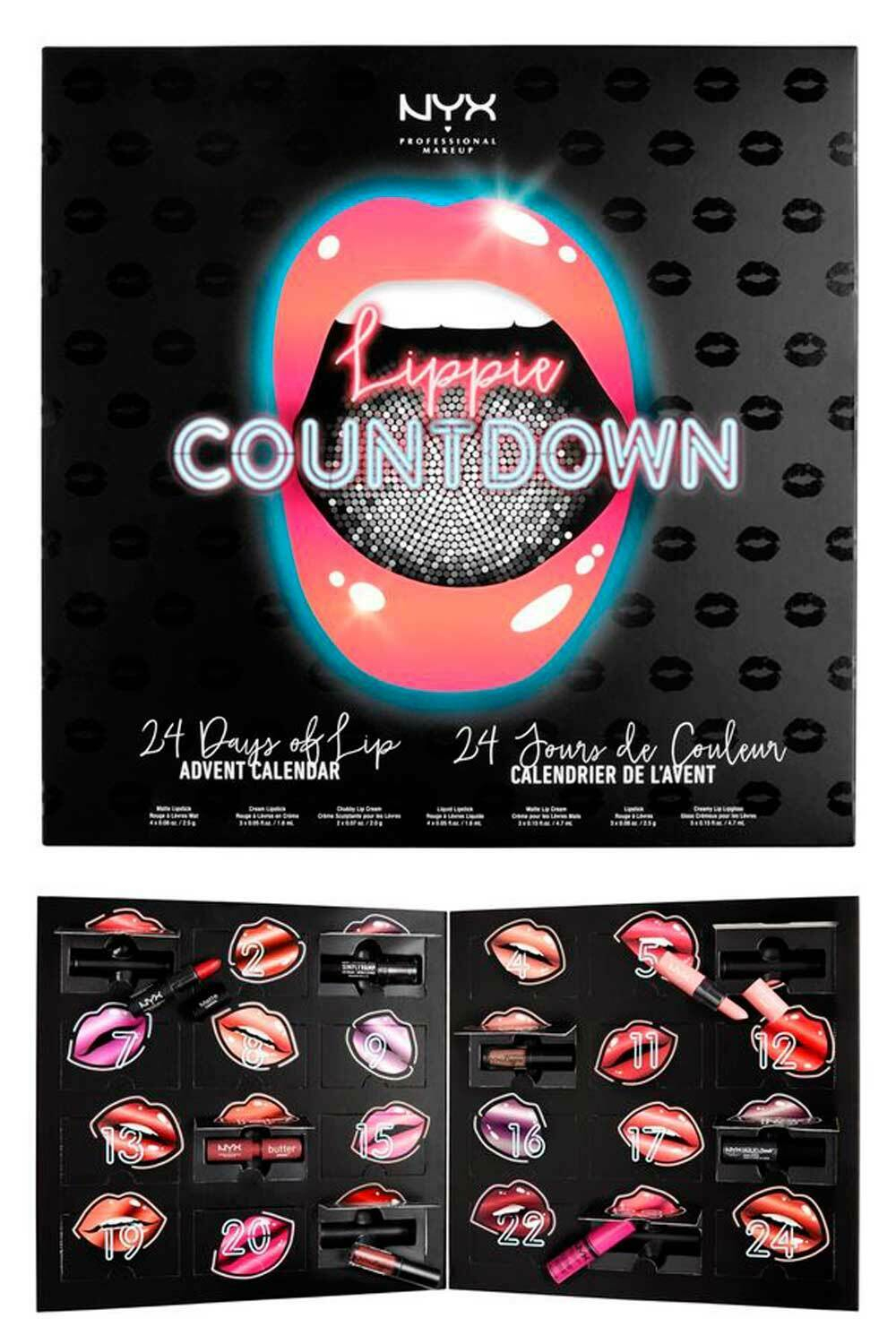 Nyx Lippie Countdown 24 Days Of Lip Advent Calendar for Nyx Countdown 2020