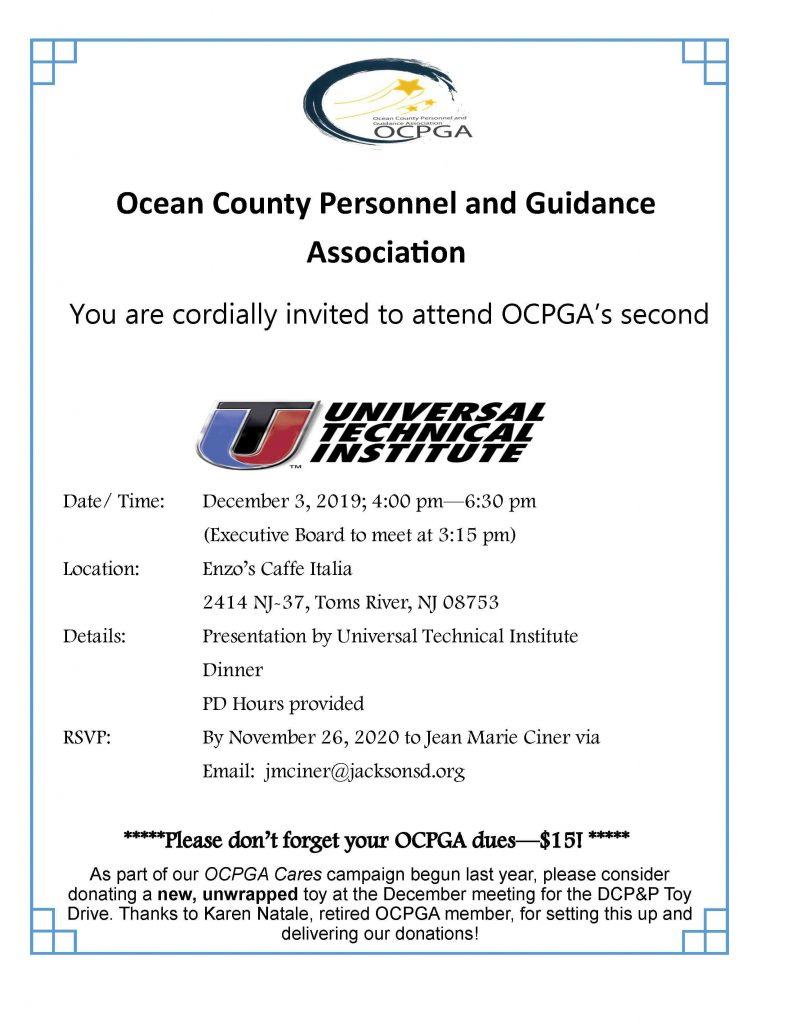 Ocpga Dinner Hosted By Universal Technical Institute  Ocean within Uti School Calendar