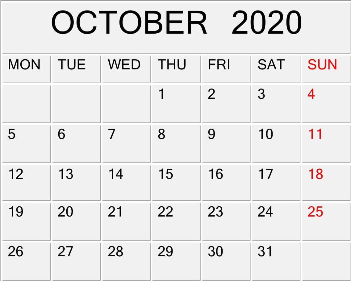October 2020 Printable Calendar With Lines – Free Latest with Printable Calendar With Lines