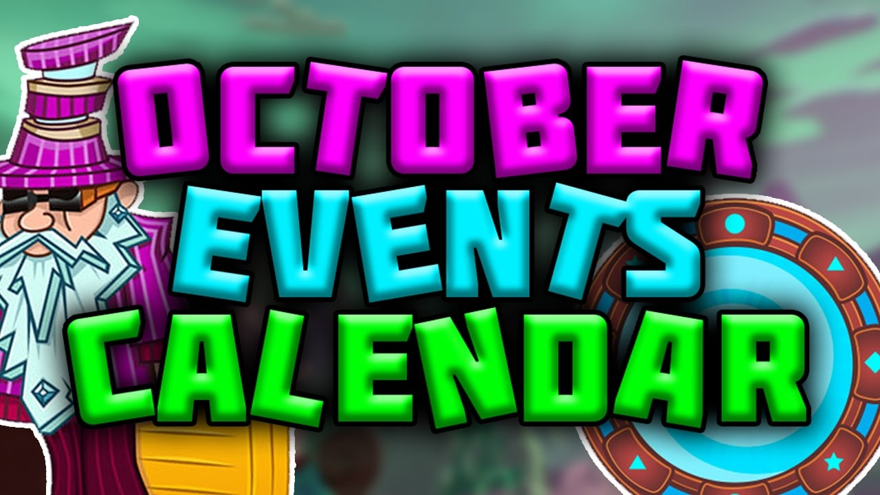October Events Calendar  Plants Vs Zombies Garden Warfare 2 in Pvz Event Calendar