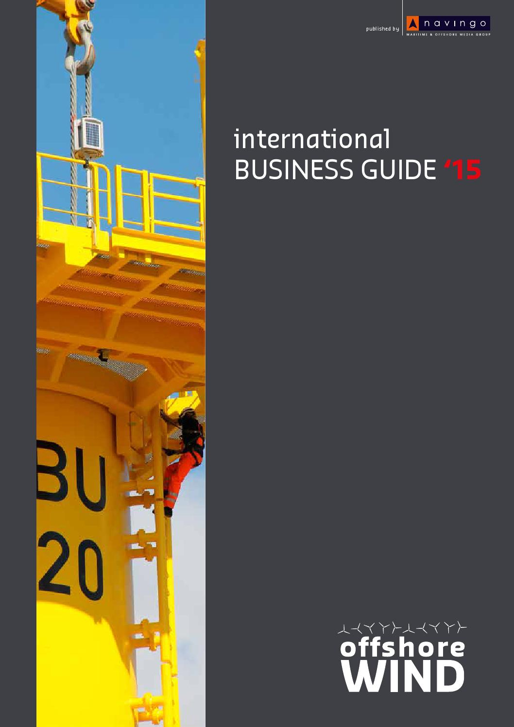 Offshore Wind International Business Guide 2015 By Navingo intended for Offshore Rotation Calendar Excel