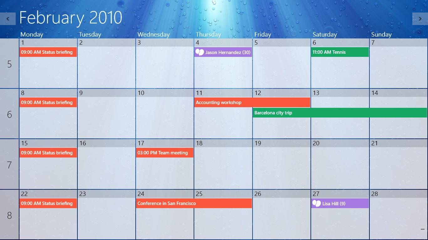 Onecalendar within Calendar Gadget For Windows 10