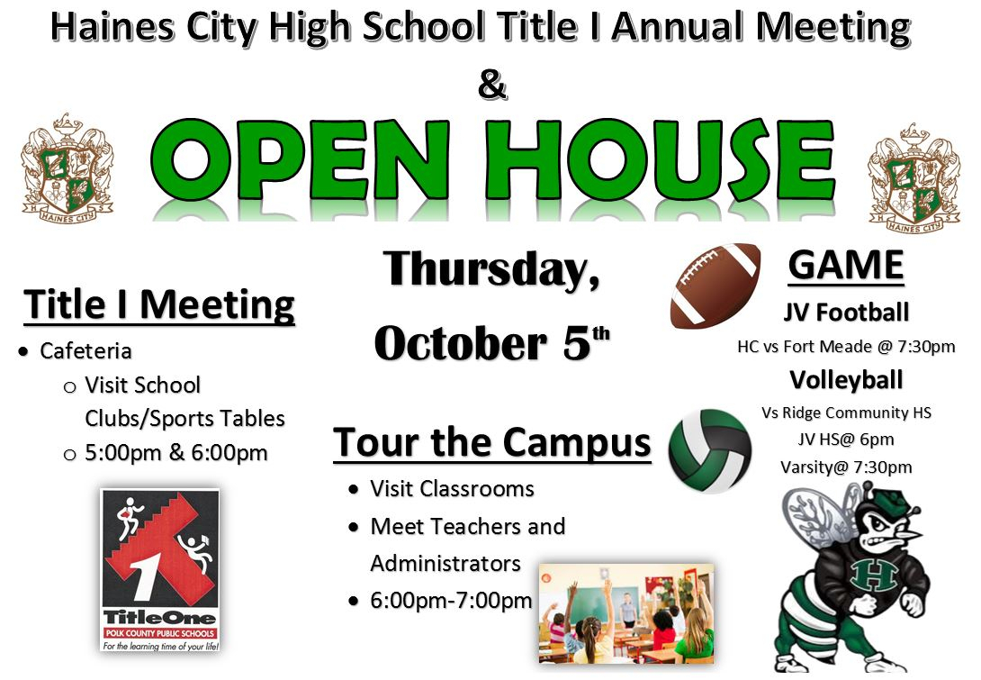 Open House – Haines City High School inside Haines City High School Bell Schedule