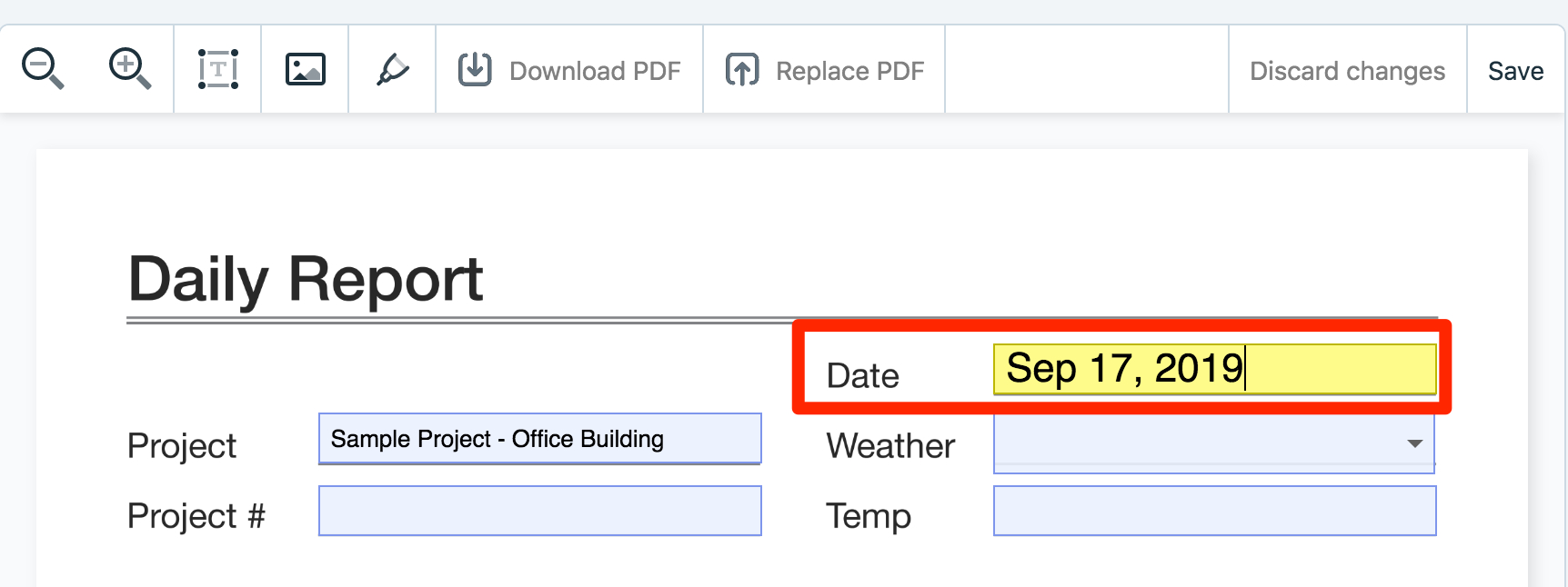 Optimizing Your Forms – Plangrid inside Pdf Form Calendar Date Picker