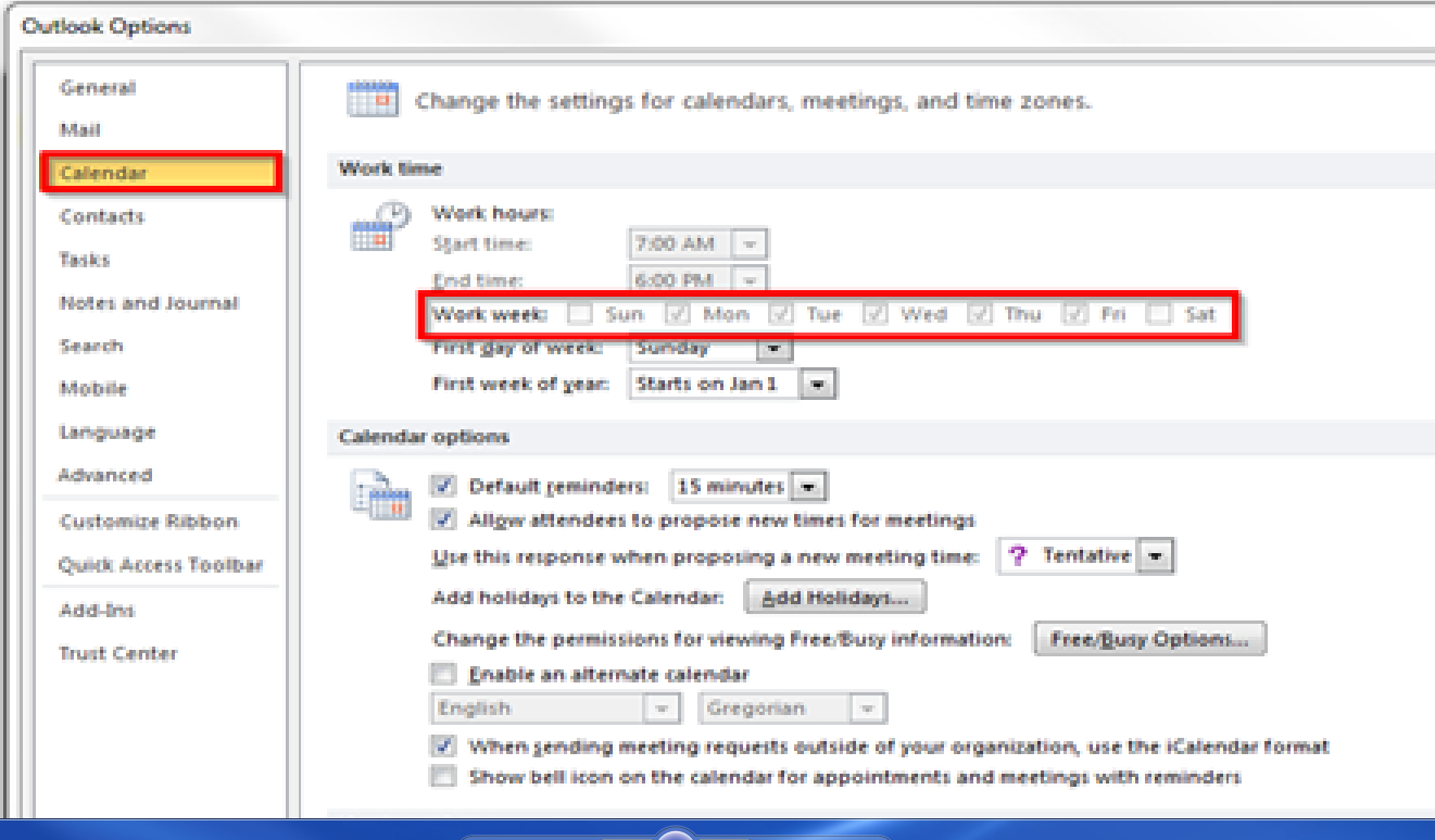 Outlook 2010 Calendar Options Greyed Out Can't Select. within Calendar Permissions Greyed Out