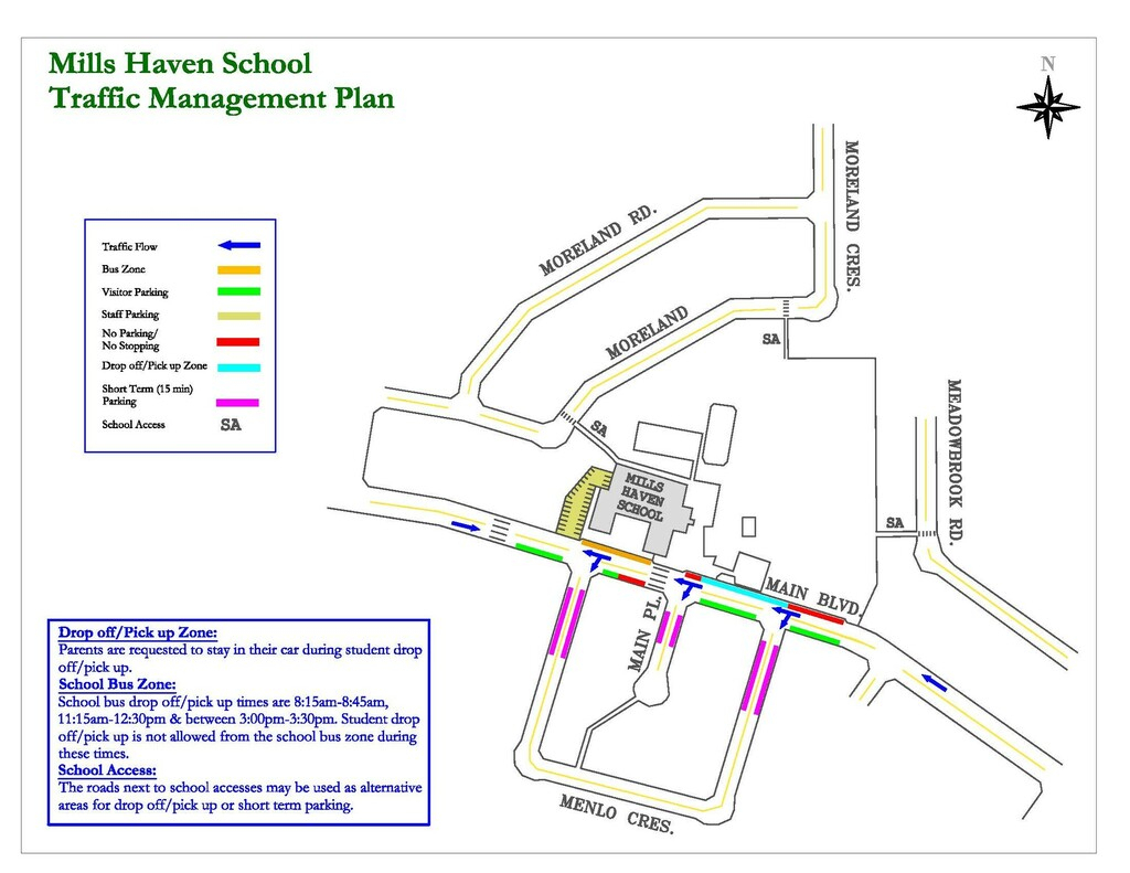 Parking | Mills Haven Elementary within Fr Haythorne Calendar
