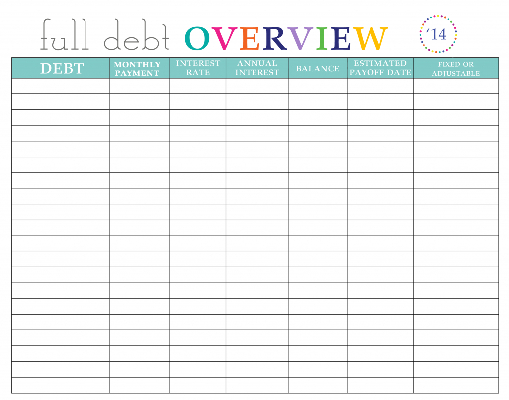 Paying Off Debt Worksheets Credit Cards Ation Spreadsheet for Bill Pay Worksheet Printable