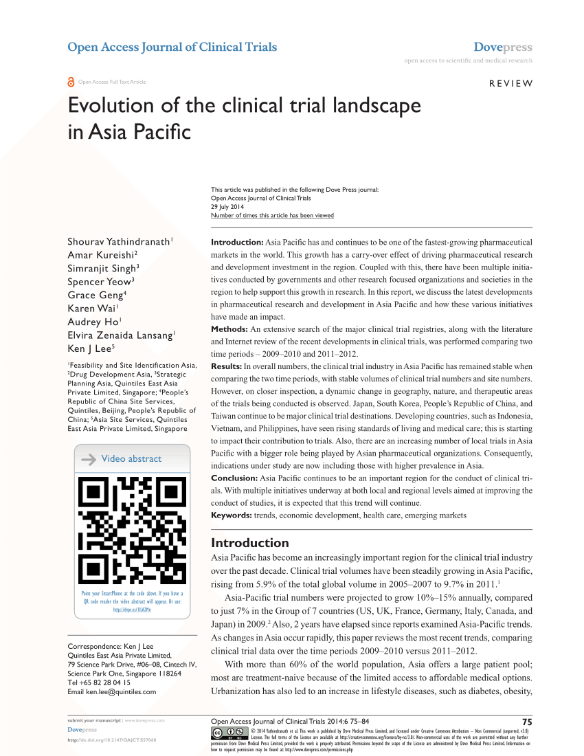 Pdf) Evolution Of The Clinical Trial Landscape In Asia Pacific inside Ft 1000 High-Growth Companies Asia-Pacific