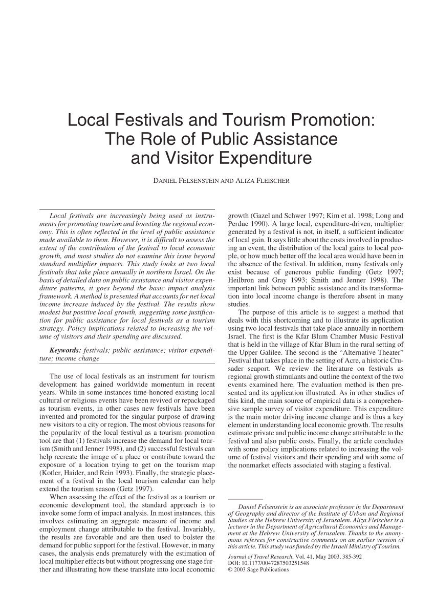 Pdf) Local Festivals And Tourism Promotion: The Role Of inside 1998 Calendar With Festivals