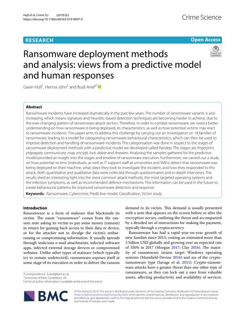 Pdf) Ransomware Deployment Methods And Analysis: Views From inside Deployment Countdown Excel