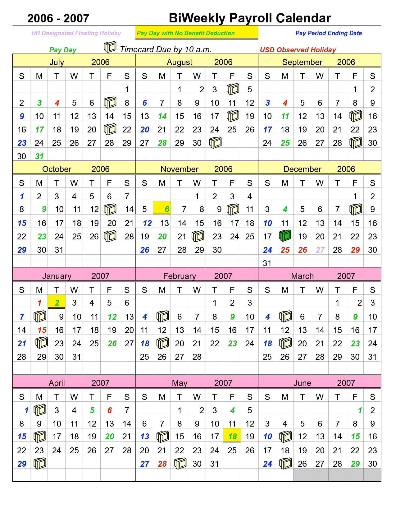 Period Calendar Printable | Payroll Calendar, Period intended for Printable 2007 Calendar