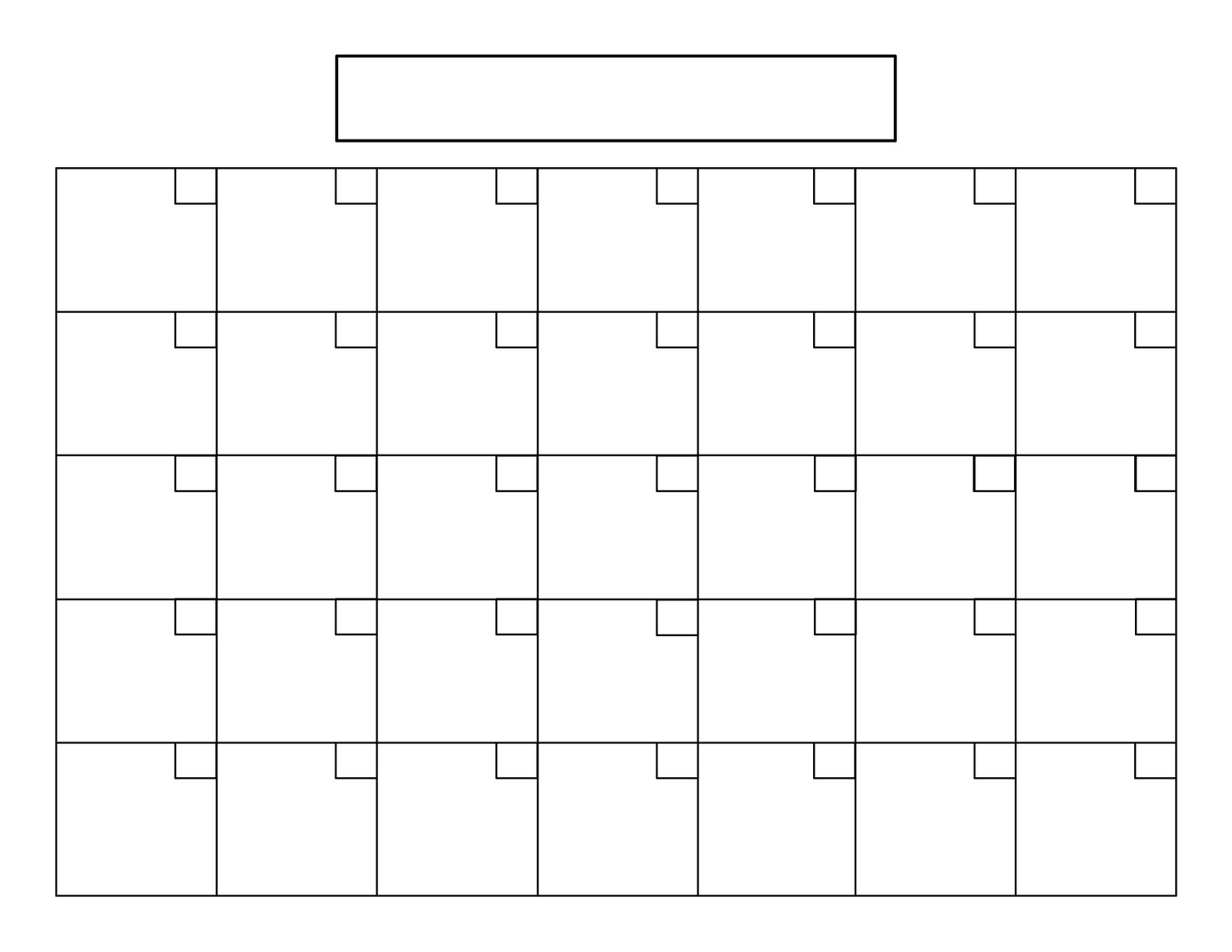 Perky Calendar With Blank Squares • Printable Blank Calendar with Calendar With Blank Squares