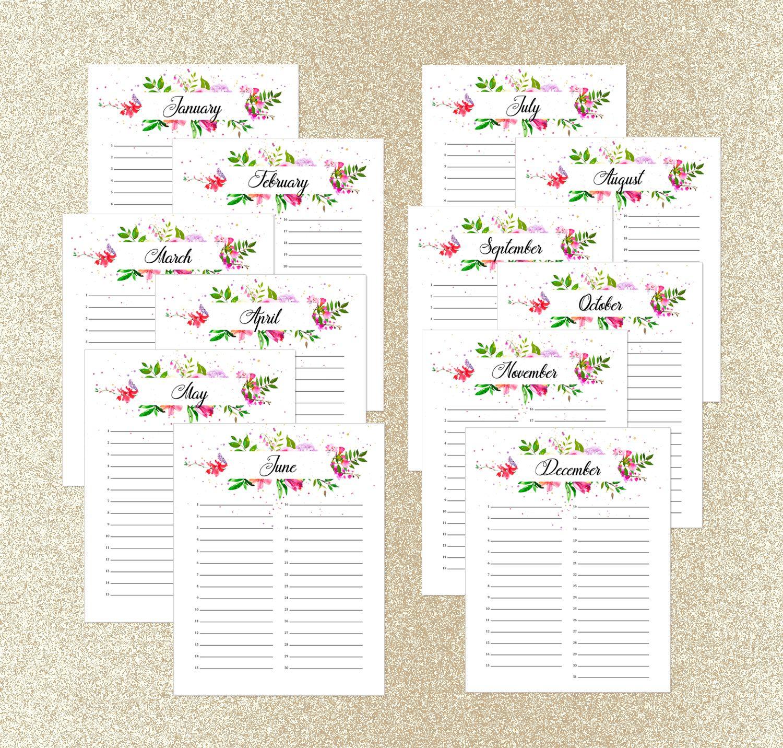 Perpetual Calendar, Printable Perpetual Birthday Calendar regarding Printable Perpetual Monthly Calendar
