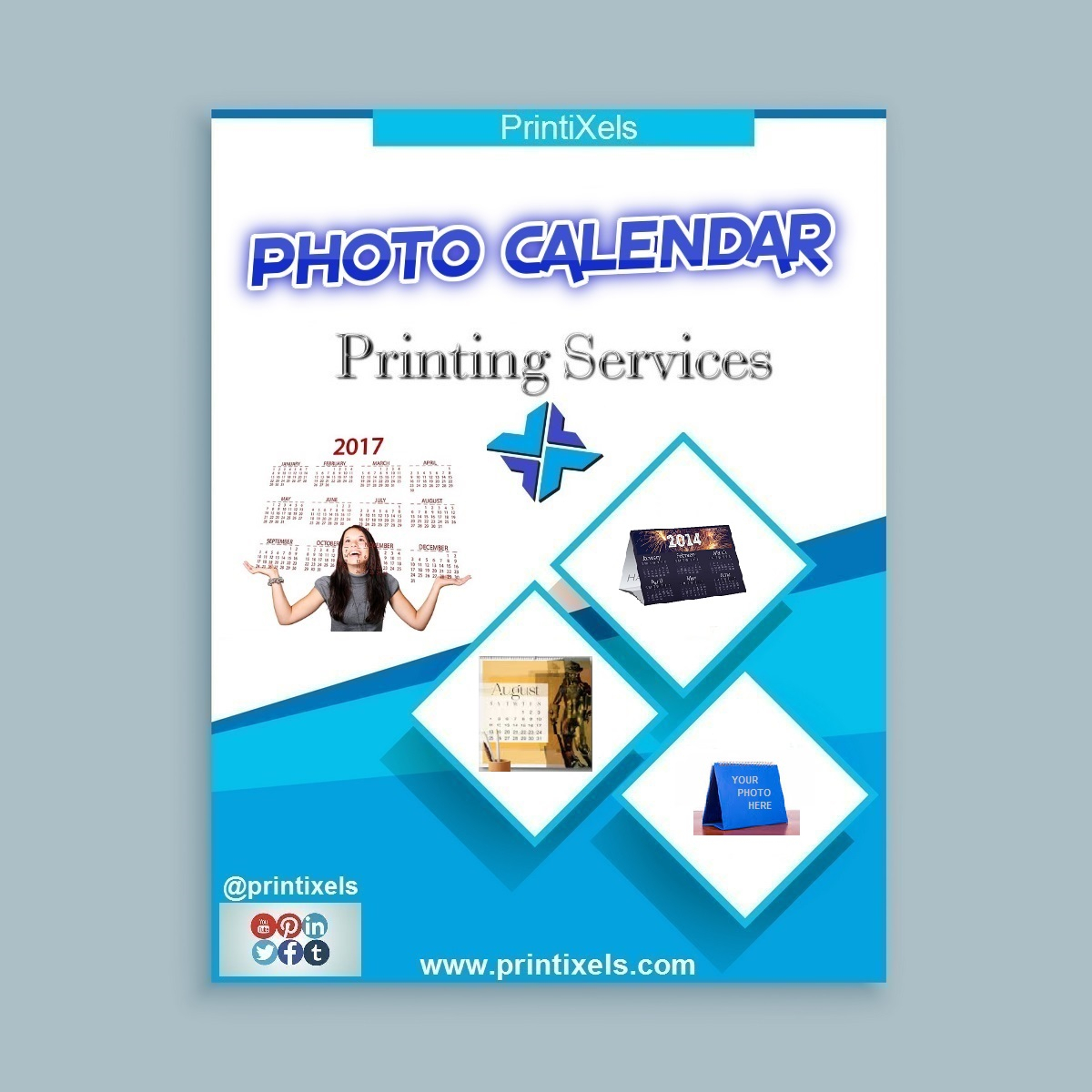 Photo Calendar Printing Services | Printixels™ Philippines pertaining to Personalized Calendar Maker Philippines