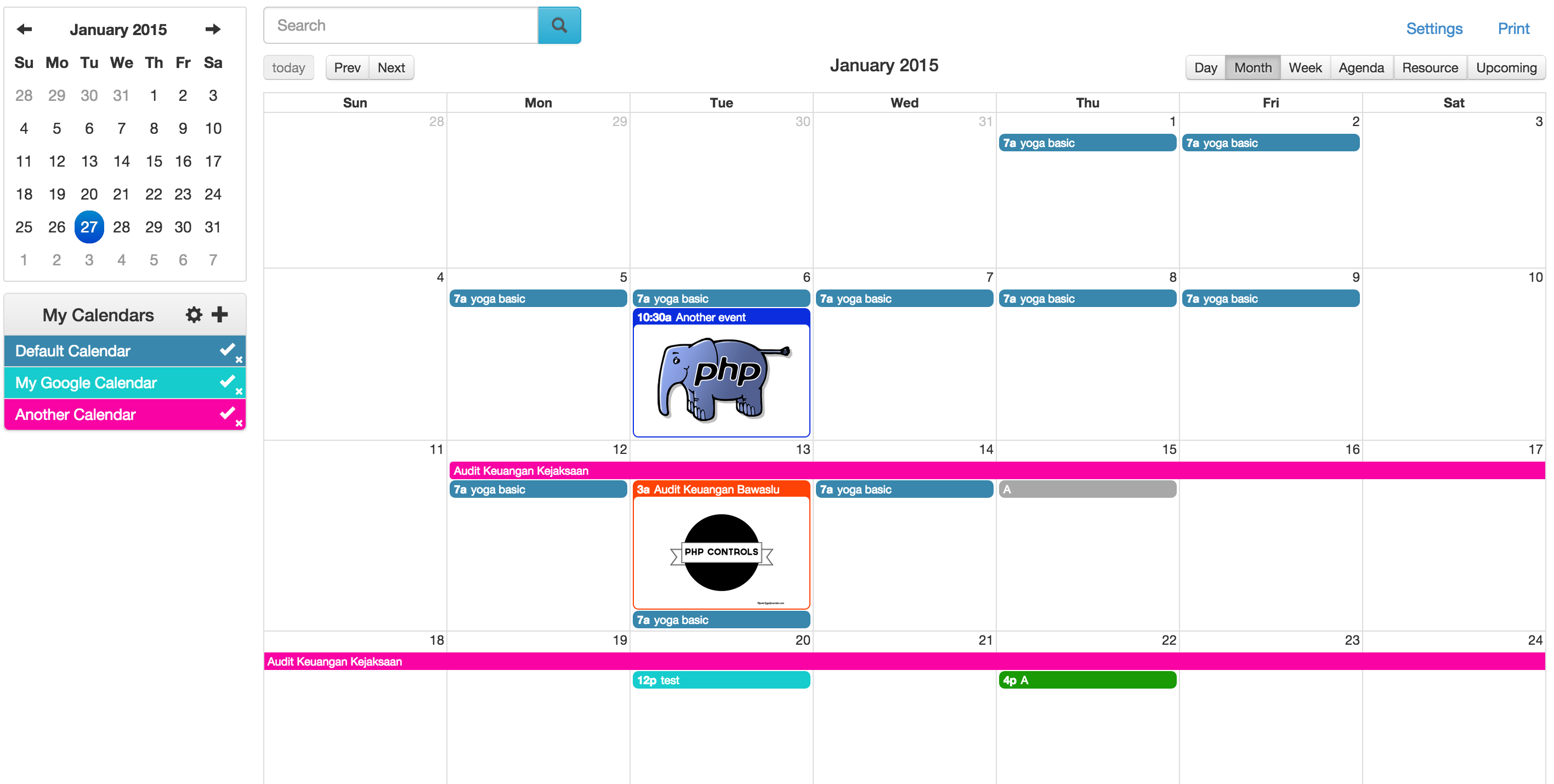 Php Event Calendar  Host Your Own Event Calendar In Minutes. with Php Calendar Event Scheduler Code