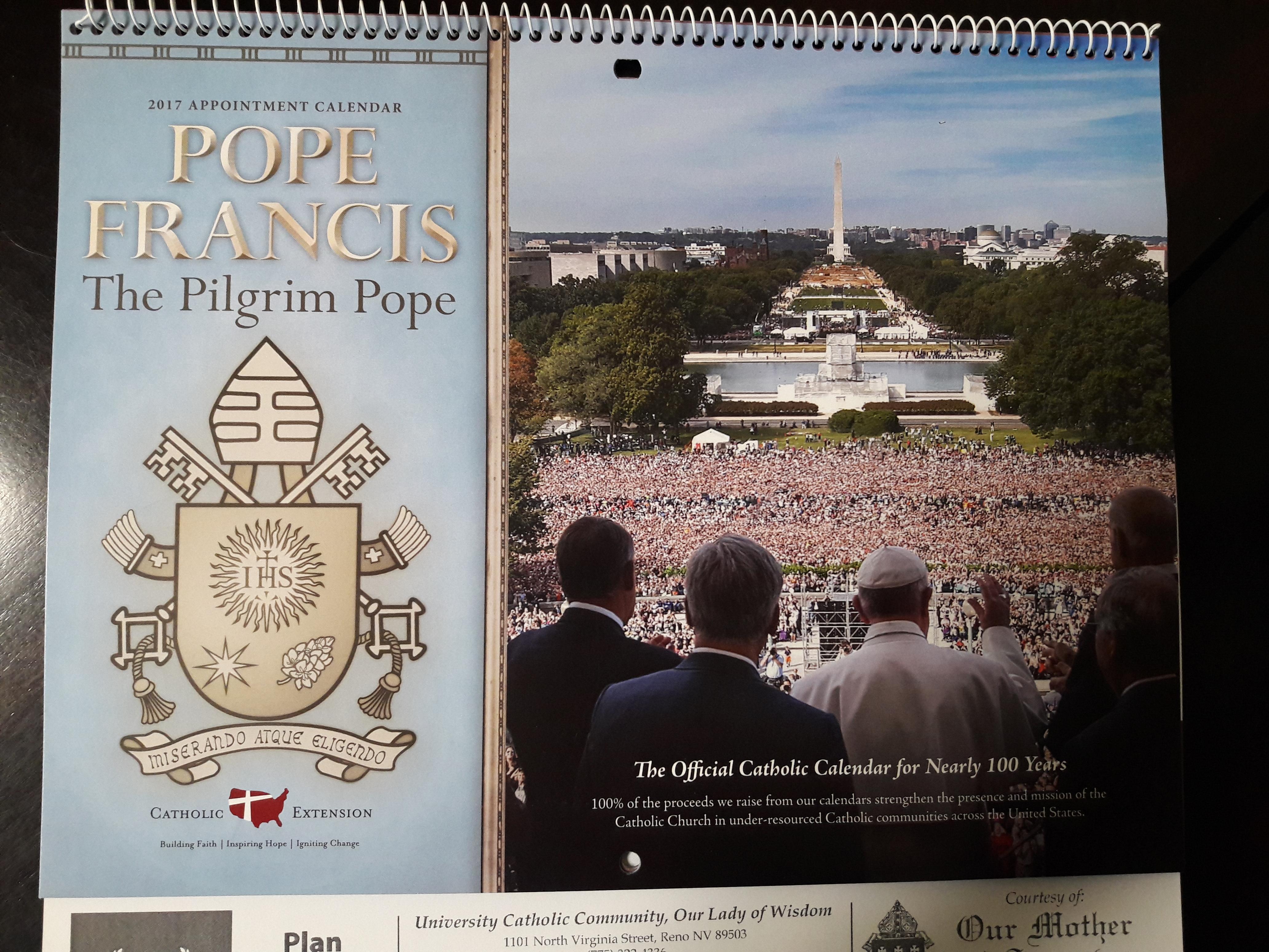 Pick Up Your Free 2017 Calendar! – Our Lady Of Wisdom inside Catholic Extension Calendar