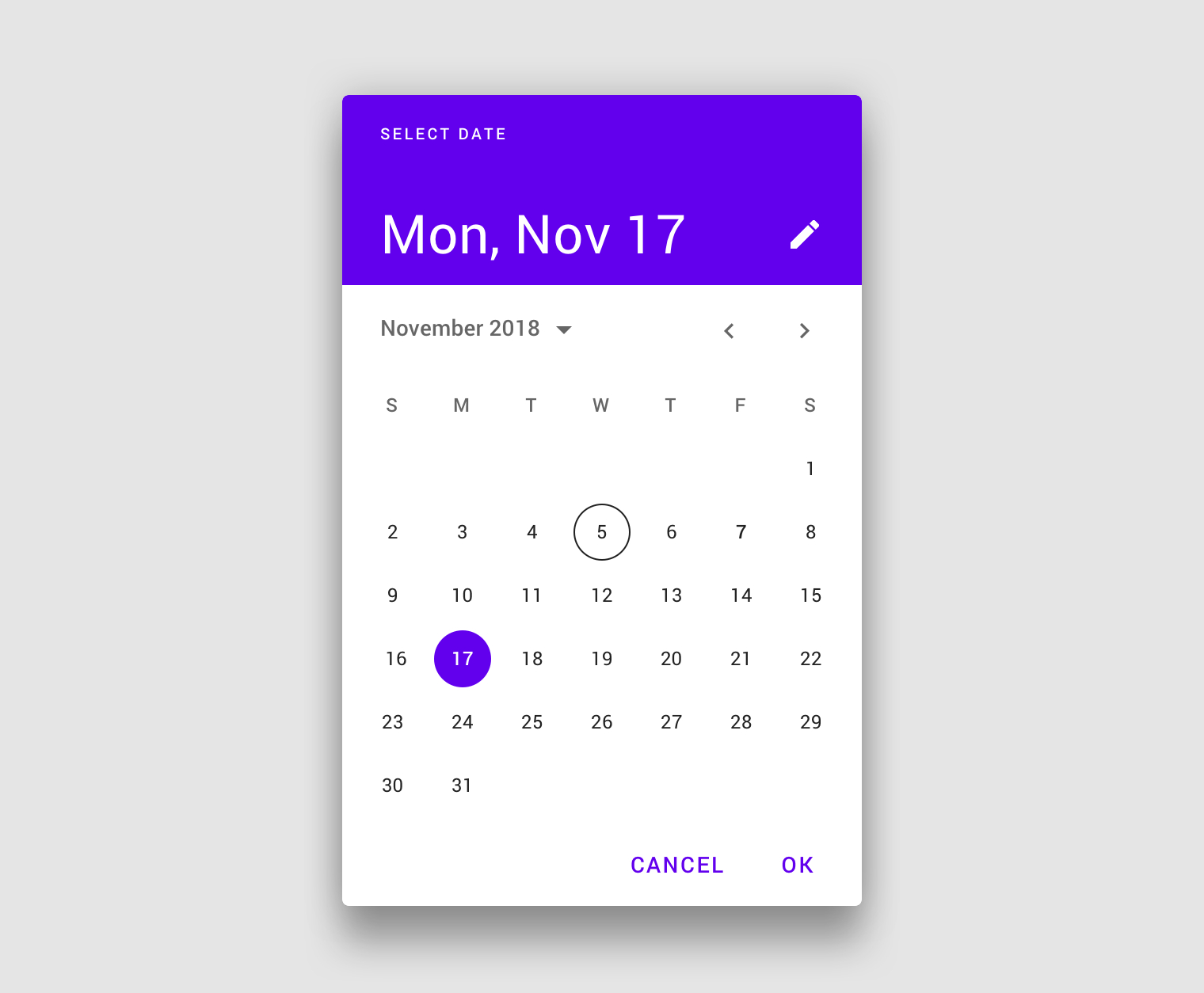 Pickers  Material Design for Material Design Calendar Icon