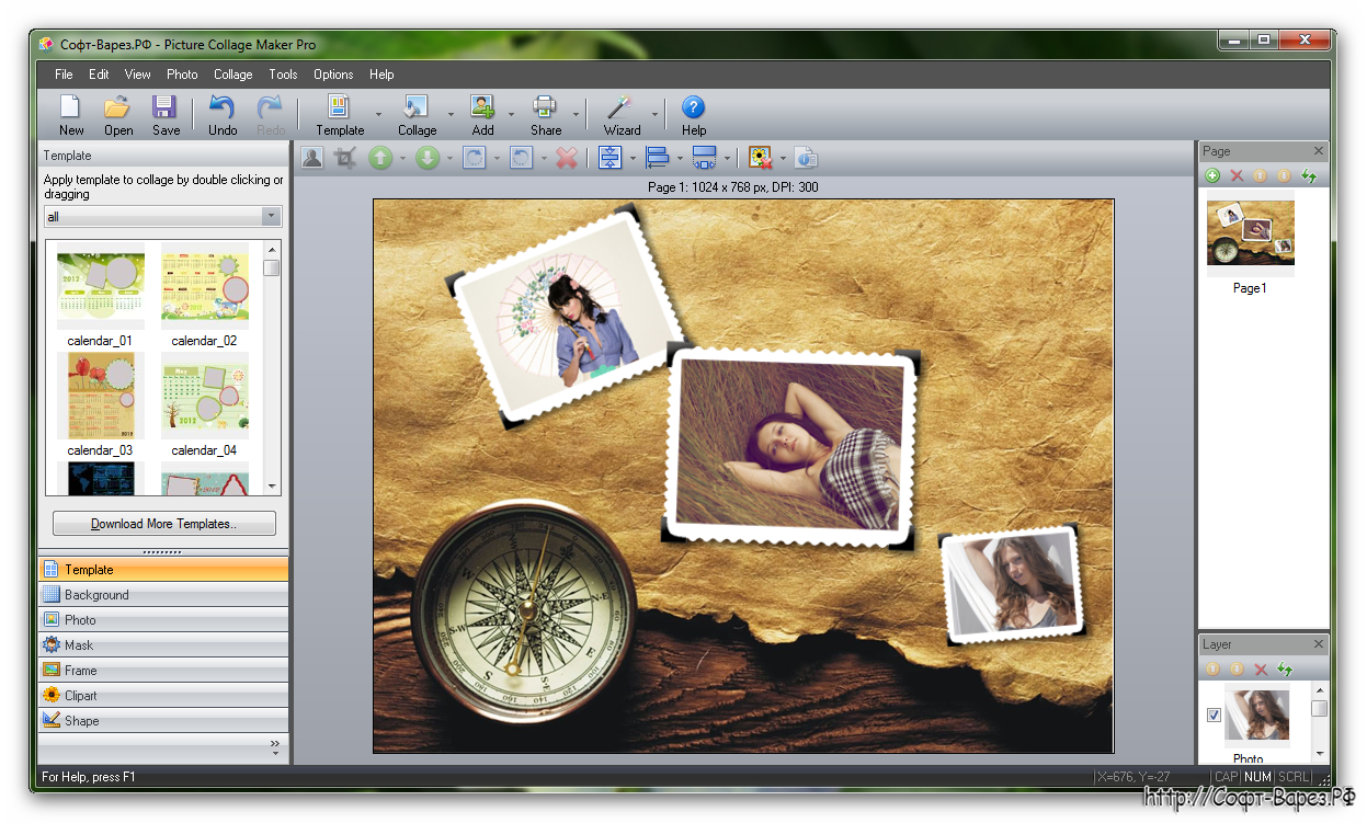 Picture Collage Maker Pro 3.2.4 Build 3523 + Ключ » Софт inside Collage Calendar Maker