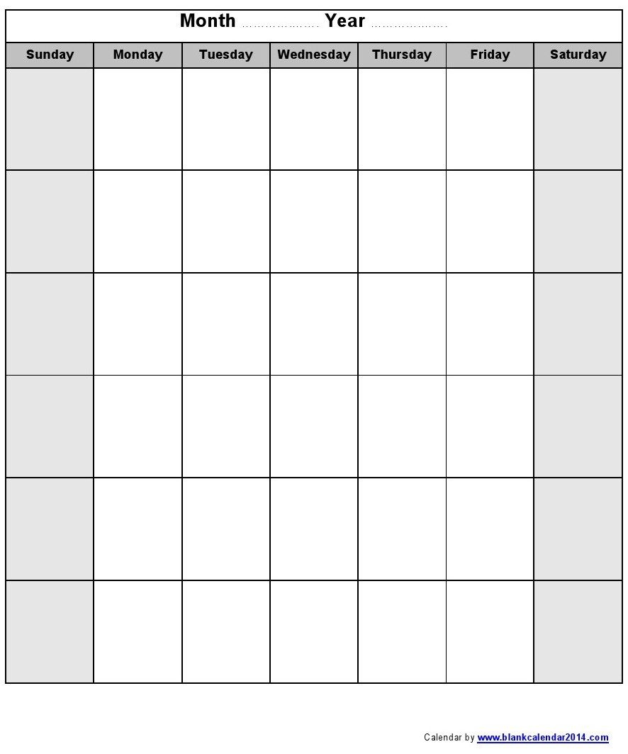 Pin By Marc Surette On Calendar | Printable Blank Calendar for Blank Calendar 2014