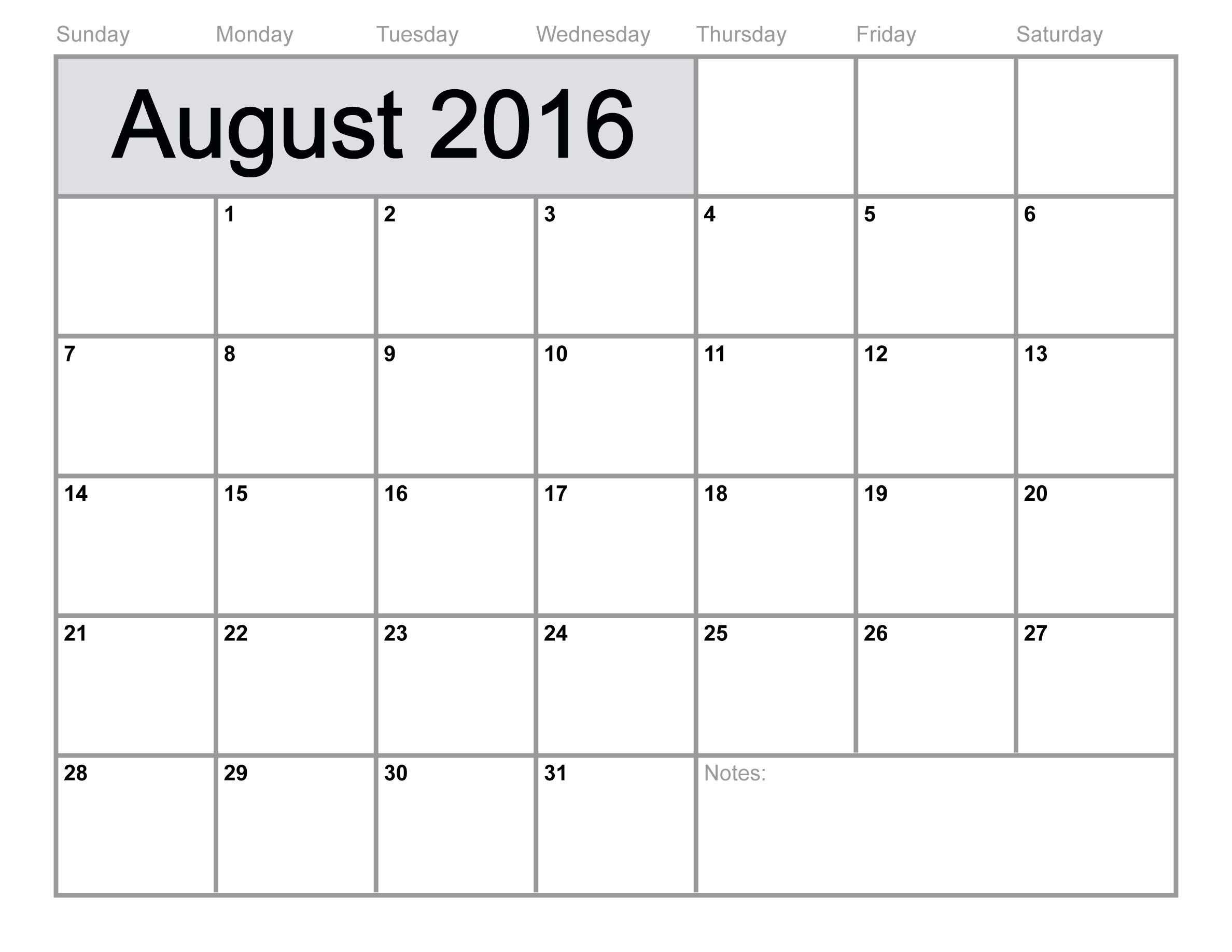Pin On Calendars with regard to July August 2016 Calendar