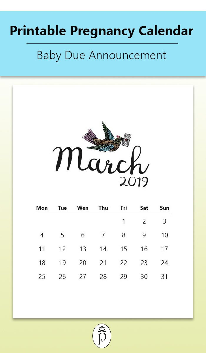 Pin On Printable Pregnancy Calendars in Printable Pregnancy Calendar