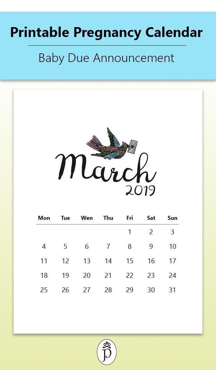 Pin On Printable Pregnancy Calendars in Printable Pregnancy Calendar