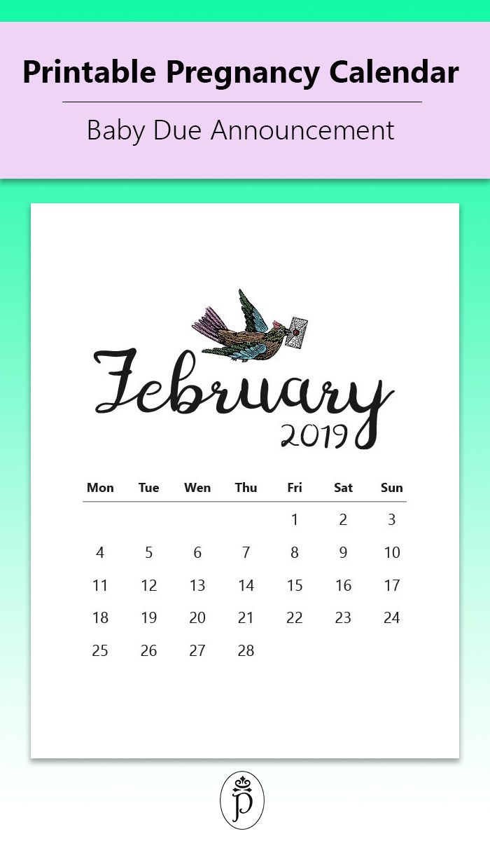Pin On Printable Pregnancy Calendars with Printable Pregnancy Calendar