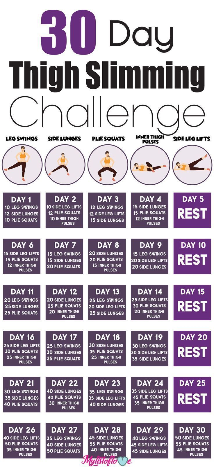 Pin On Workouts with regard to 30 Day Inner Thigh Challenge