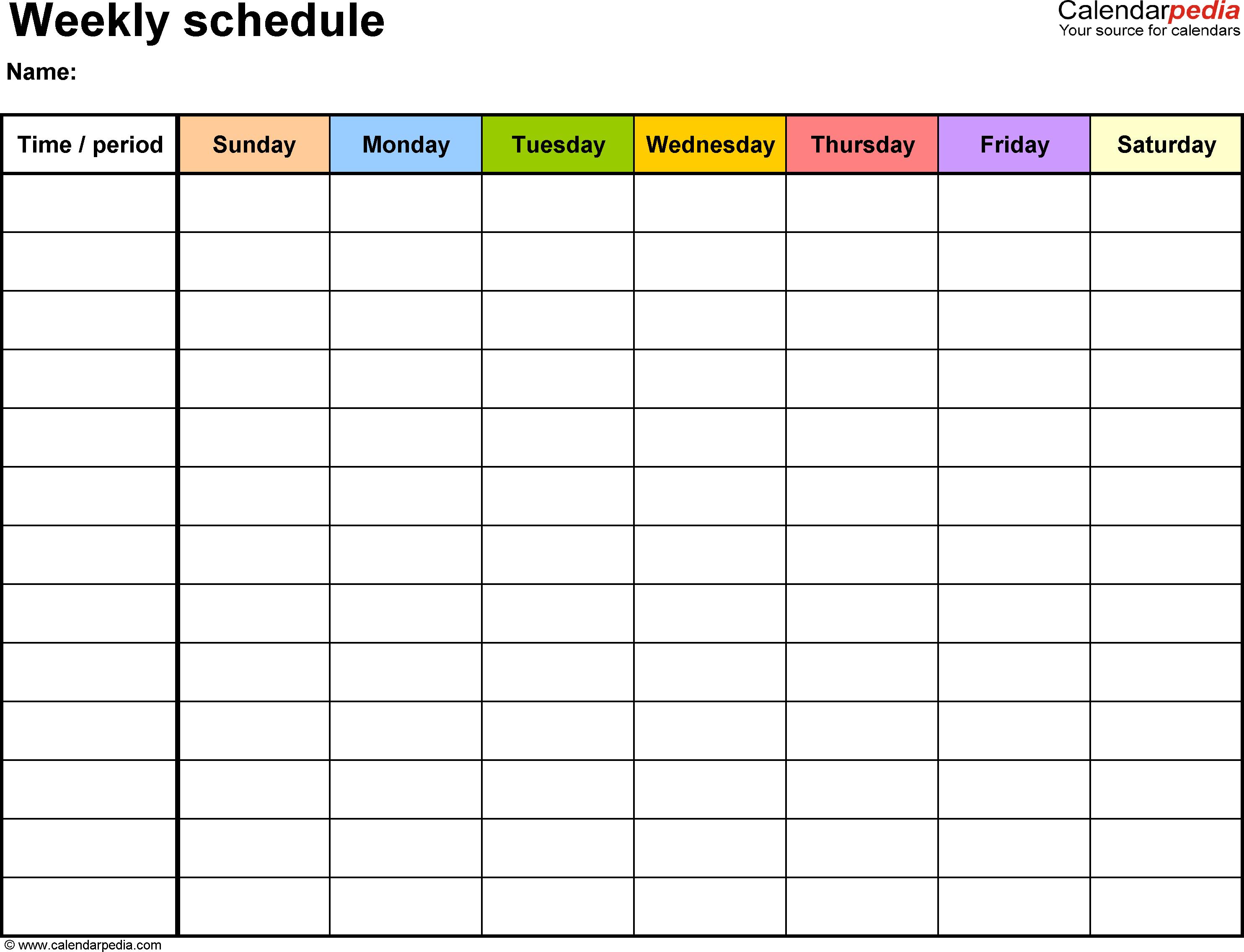 Pin On ~Yoga~ for Blank Sunday Through Saturday Calendar