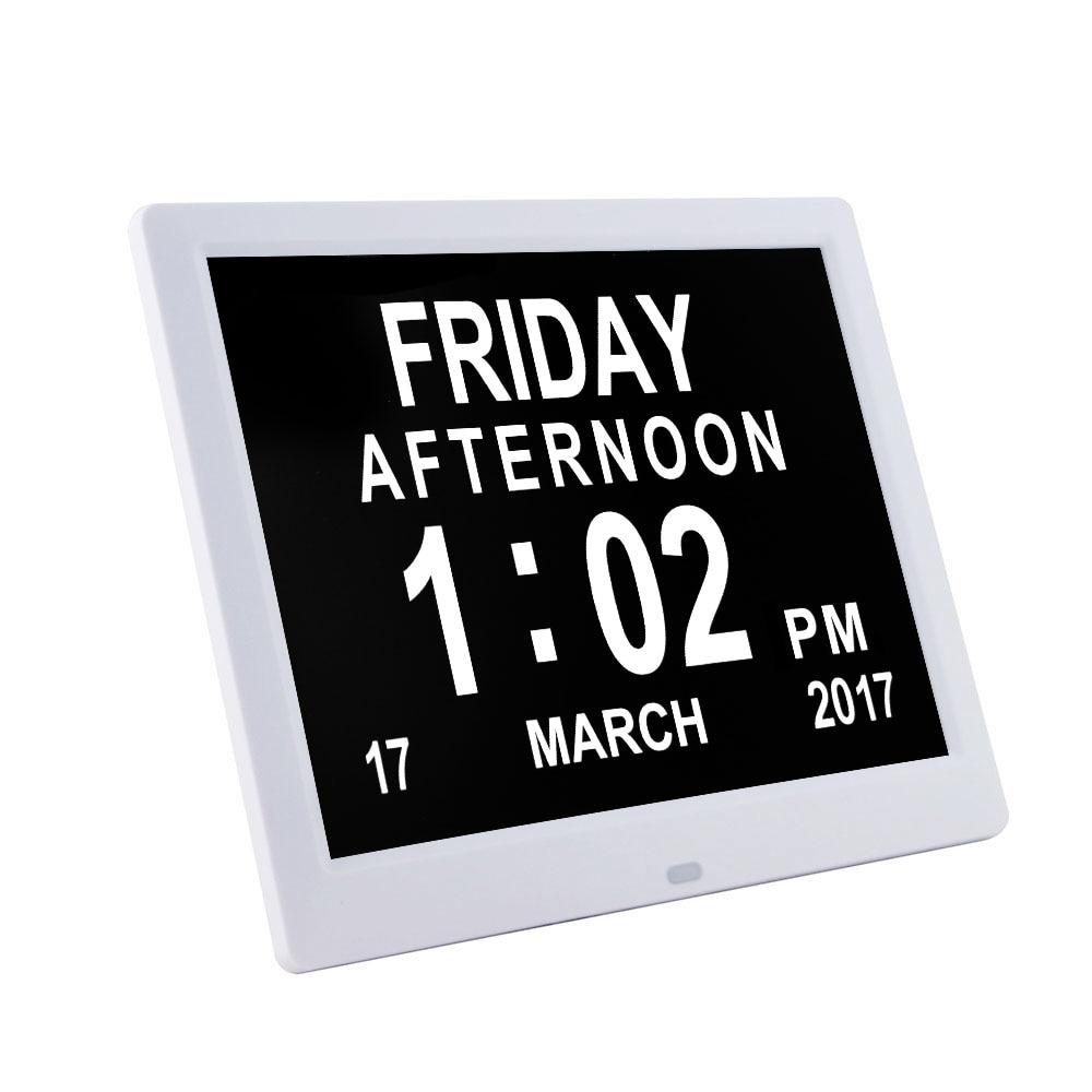 Pinwei Memory Loss Digital Calendar Photo Frame Day Clock with regard to Extra Large Photo Calendar