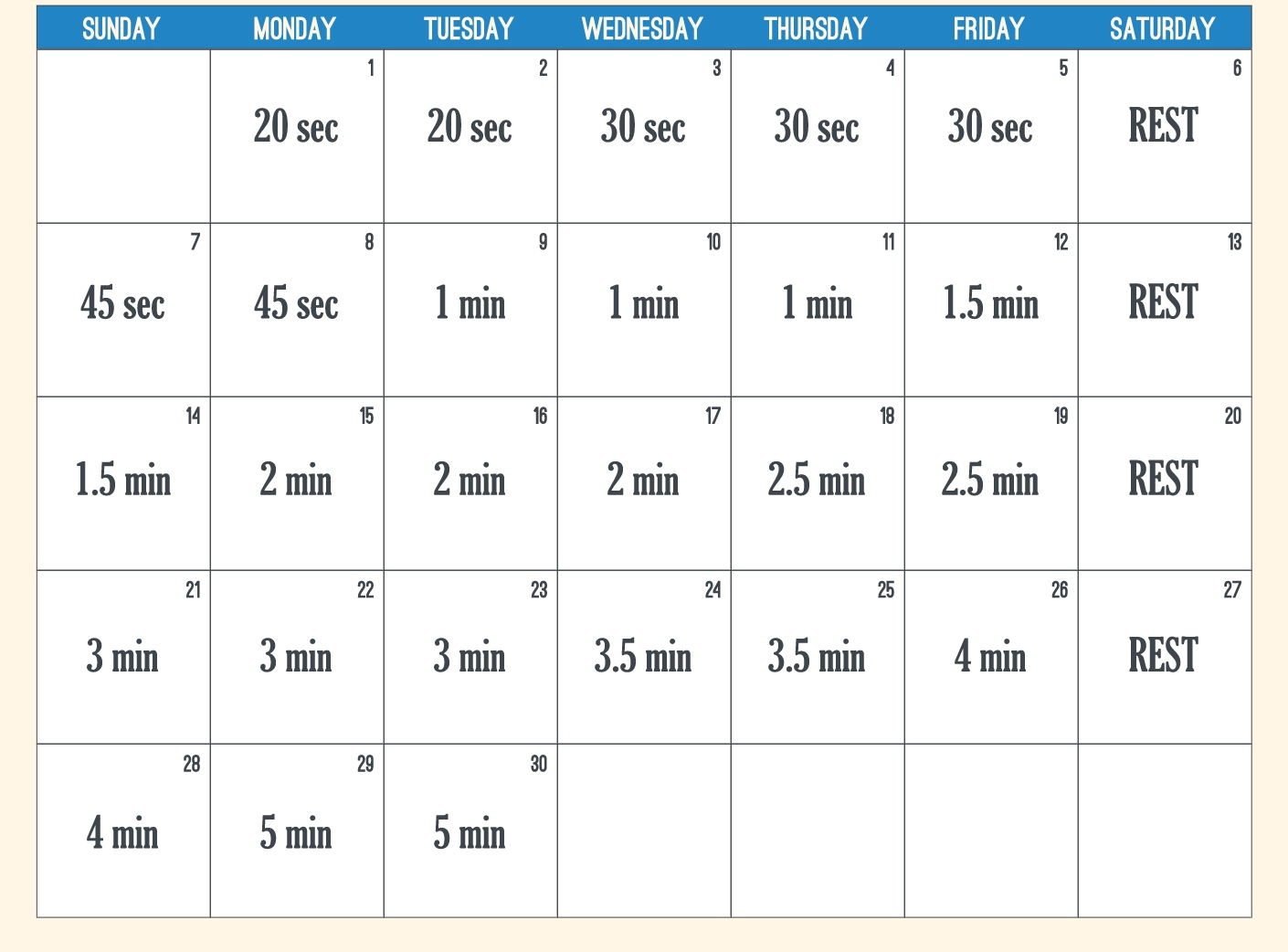 Plank Challenge   Going Forward throughout 30 Day Plank Challenge Printable