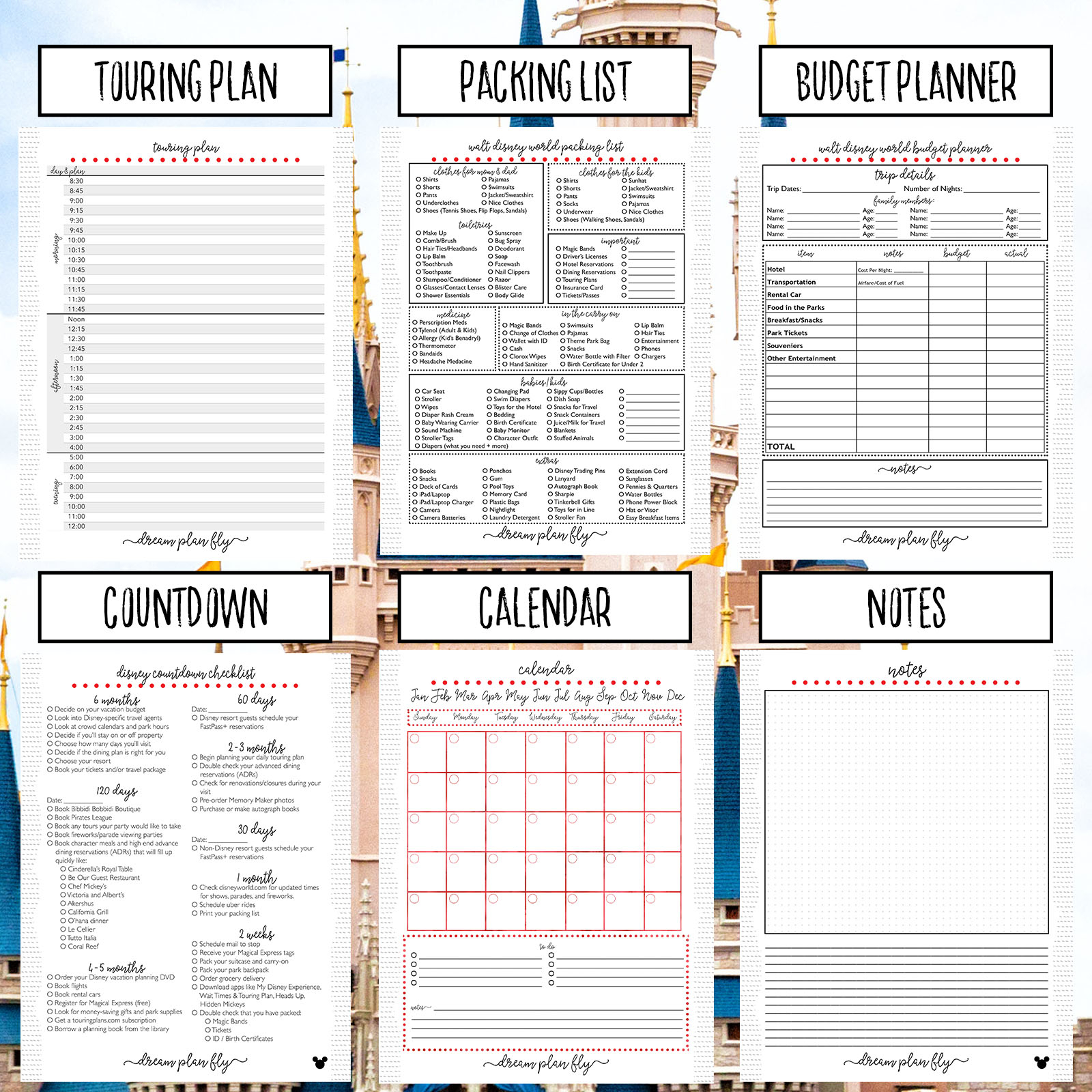 Planner Vacation  Bolan.horizonconsulting.co with regard to Disney Vacation Planner Template