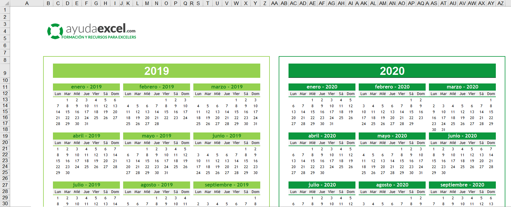 Plantillas Calendario En Excel 2020  Ayuda Excel for Calendario 2020 Con Semanas