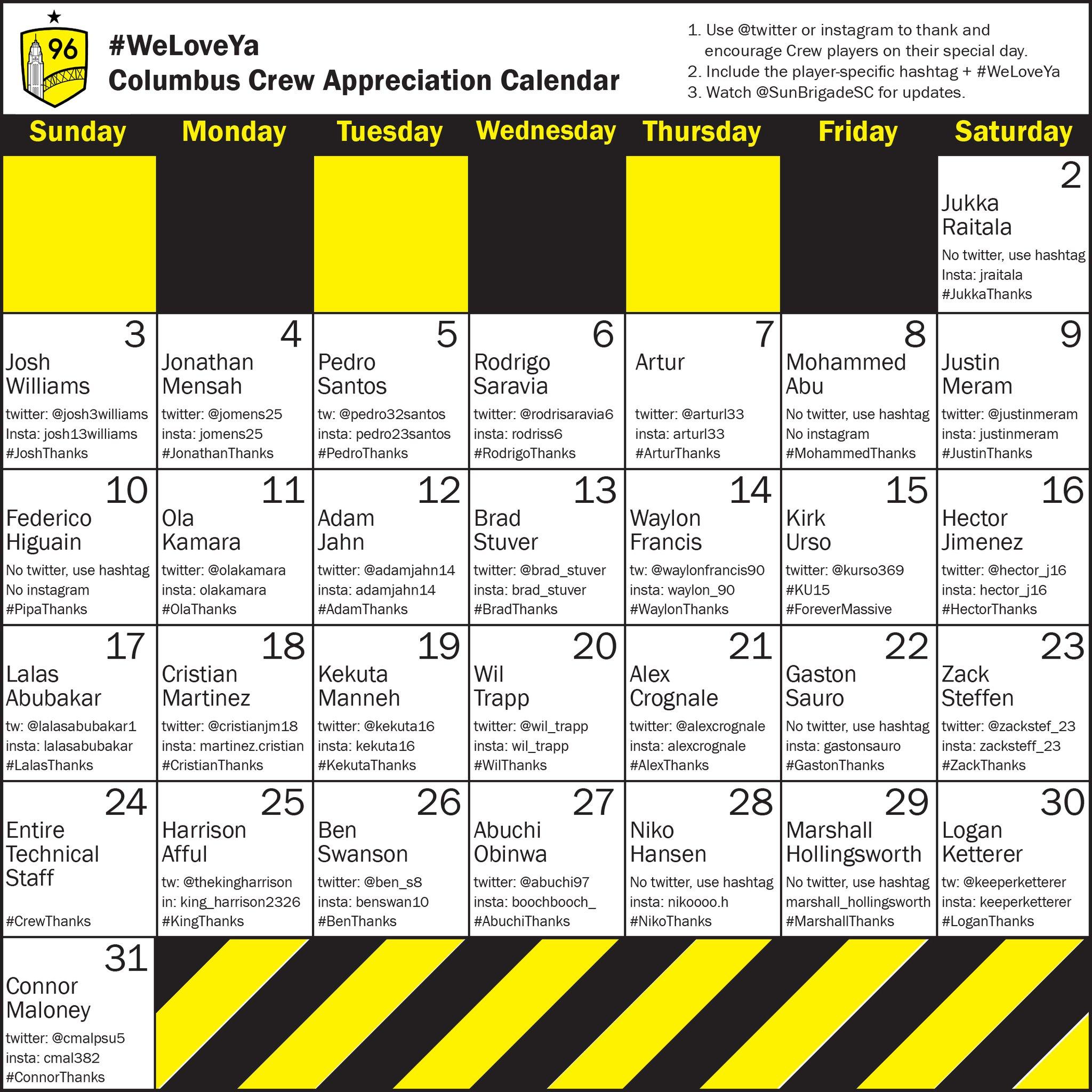 Player Appreciation Month Calendar : Themassive intended for 13 Month Calendar Reddit