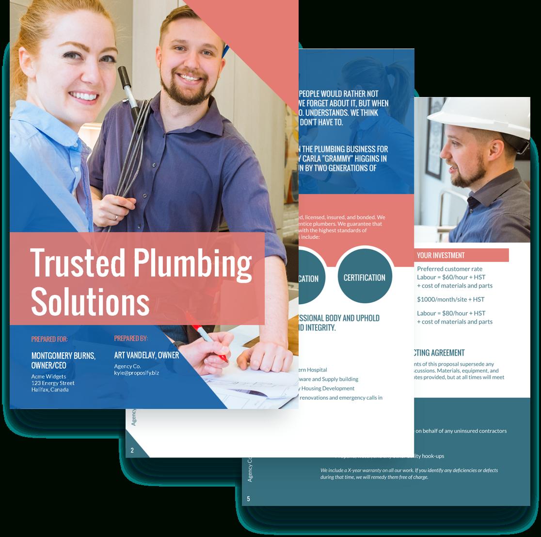 Plumbing Proposal Template  Free Sample | Proposify inside Plumbing Proposal Template Free
