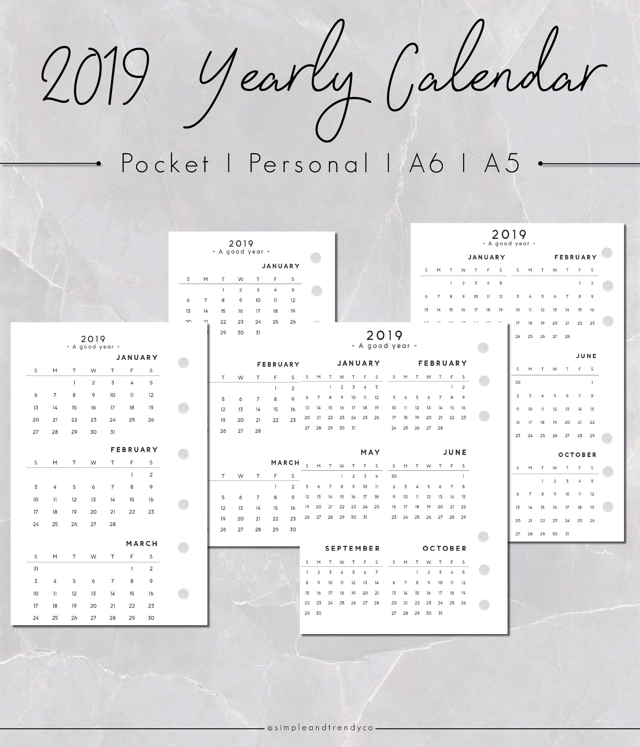 Pocket Size Calendar Printable, 2019 Pocket Calendar Sunday within Pocket Size Calendar Printable