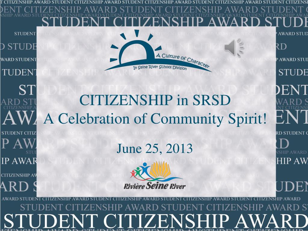 Ppt  Citizenship In Srsd A Celebration Of Community Spirit with regard to Seine River School Division Calendar