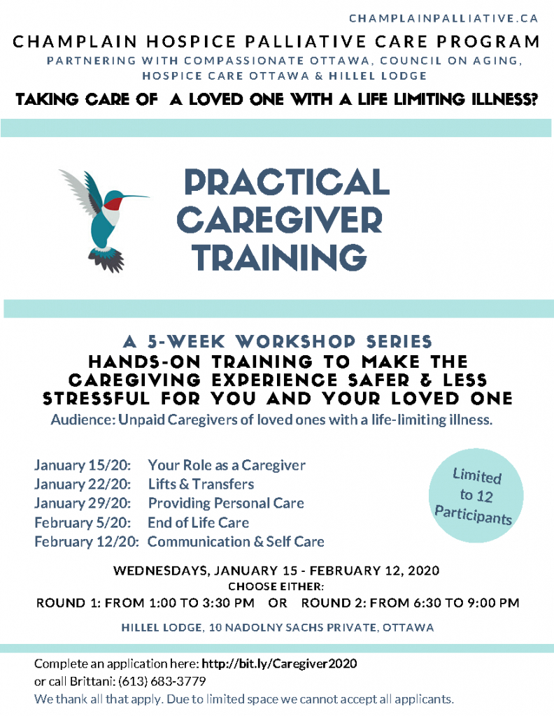 Practical Caregiver Training (Free 5Week Workshop)  The for Hospice Week 2020