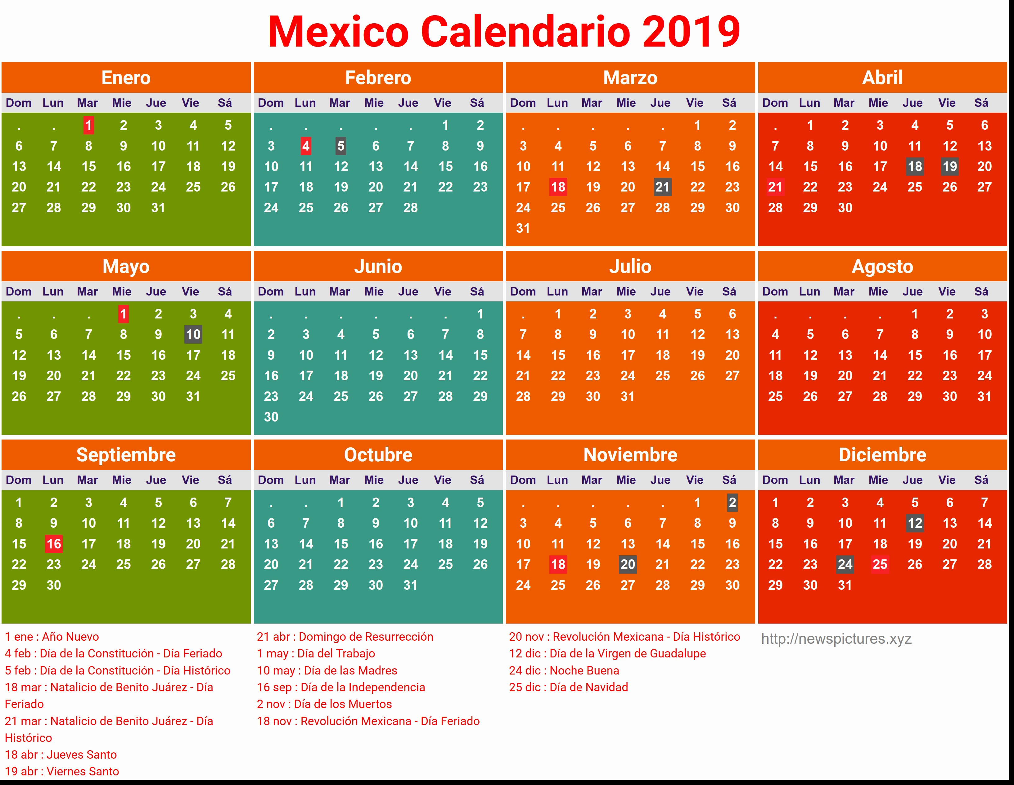 Prensa Calendario Michel Zbinden Abril 2019 intended for Calendario Zbinden 2020