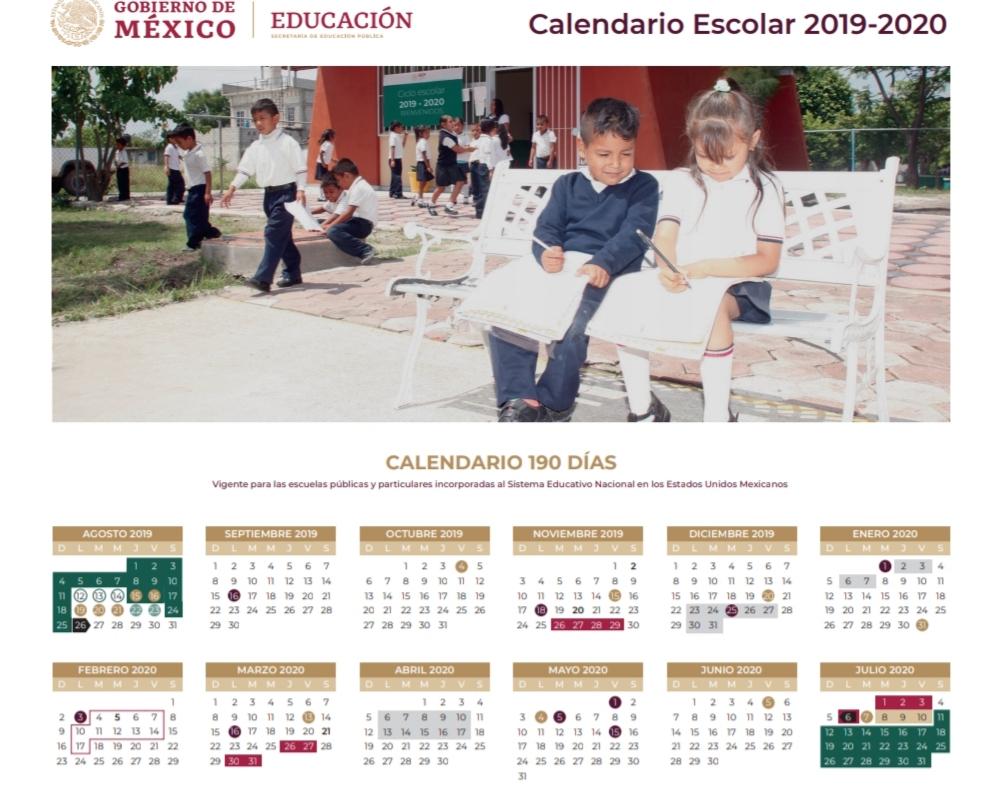 Presenta Sep El Calendario Escolar De 190 Días Para El Ciclo pertaining to Sep Calendario 2020