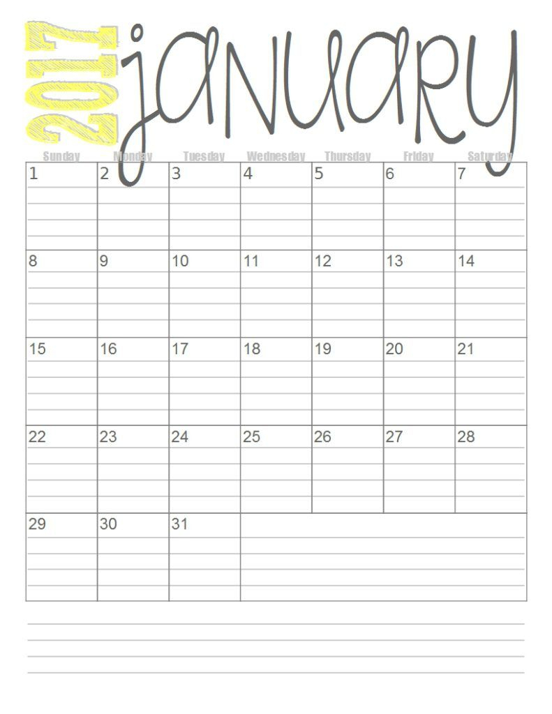 Print These Simple Lined Monthly Calendars For Free intended for Printable Calendar With Lines