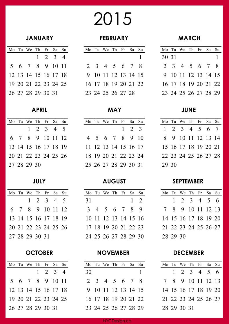 Printable 2015 Calendar | 2014 Calendar Printable, Printable for Calendar 2014 Printable