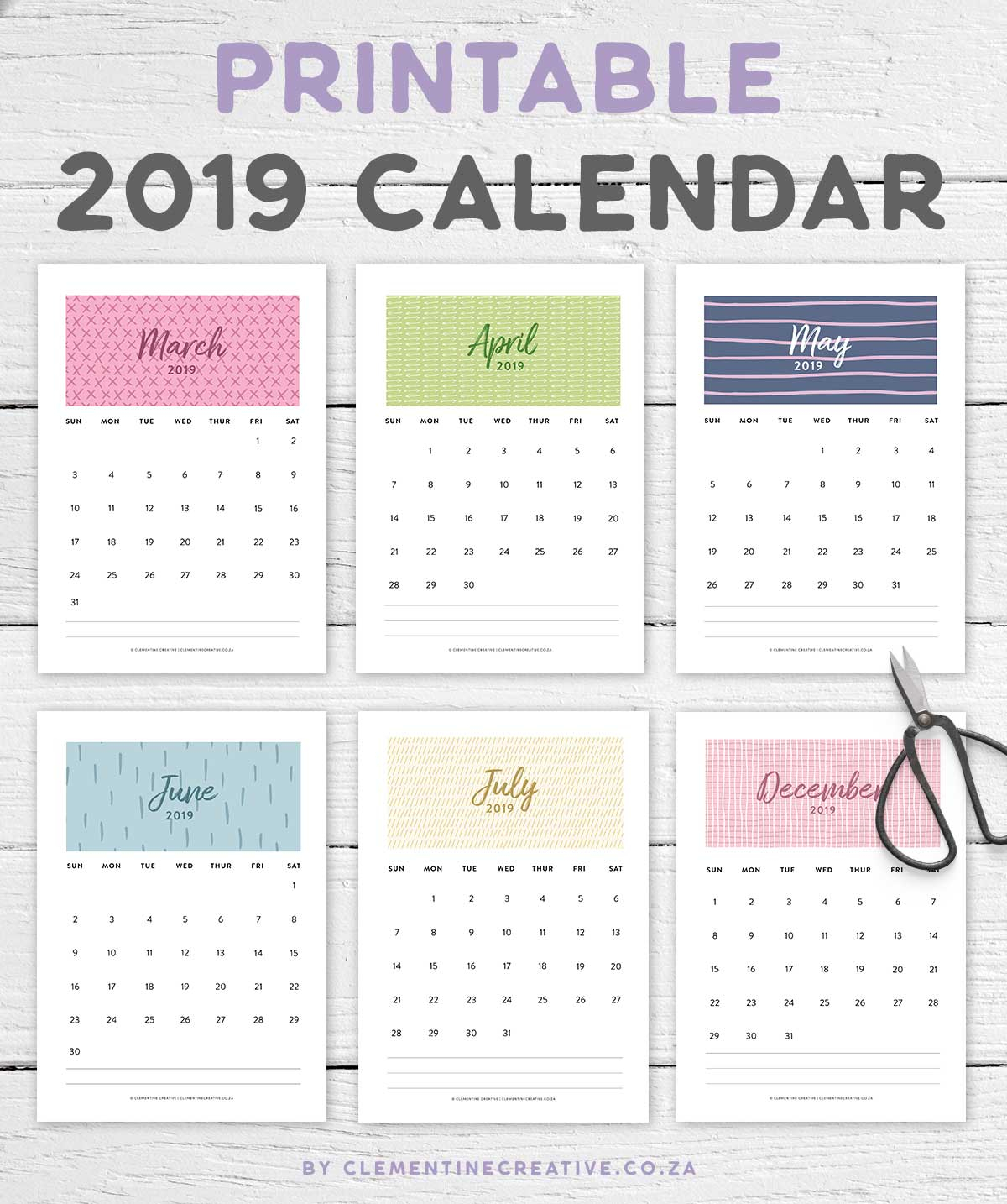 Printable 2019 Calendar | A Pretty Monthly Calendar intended for Pretty Printable Calendar