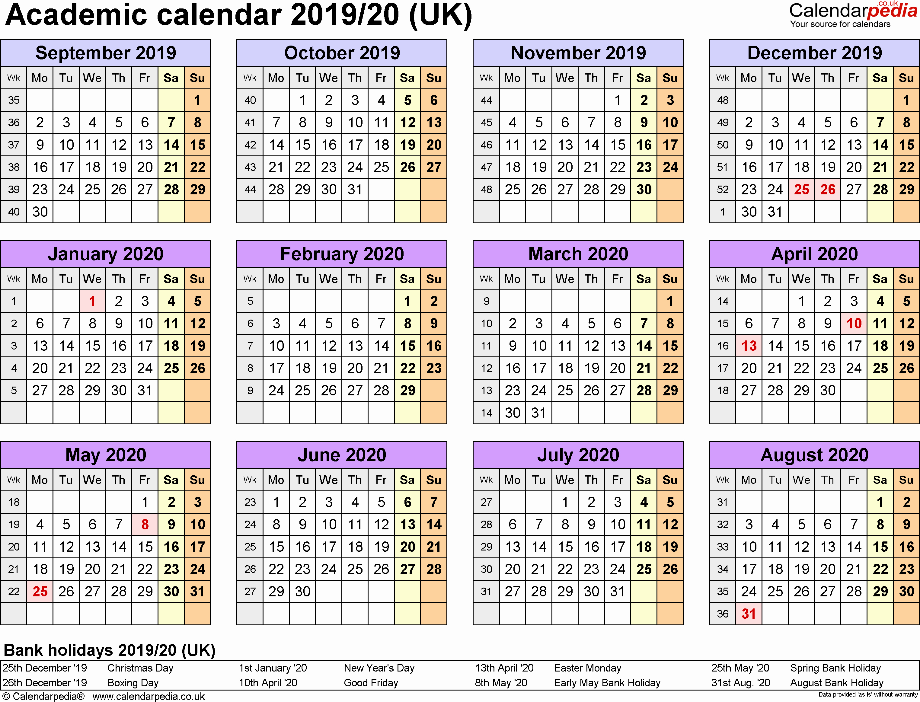 Printable 2019 Monthly School Calendar pertaining to School Calendar 2020 Mauritius