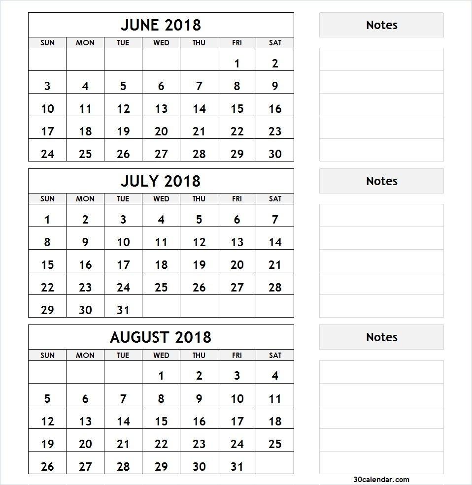 Printable 3 Month Calendar | Monthly Printable Calender inside Printable 3 Month Calendar