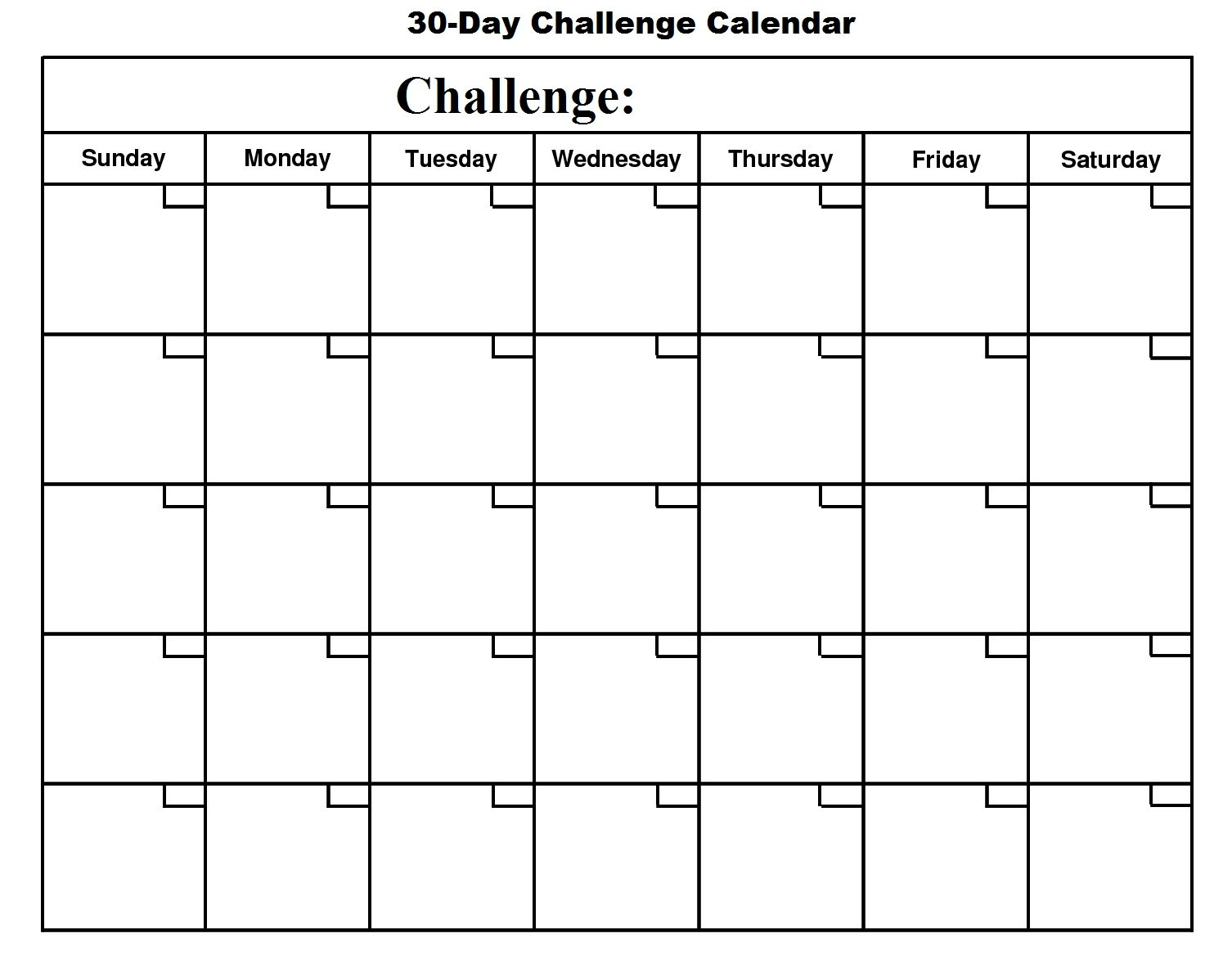Printable 30 Day Calendar  Printable 360 Degree | Blank inside 30 Day Calendar Printable