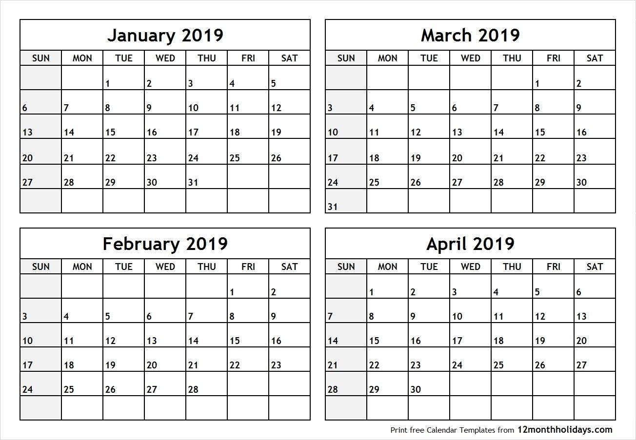 Printable 4 Month Calendar 2020 – Urgup.ewrs2018Print throughout Printable Calendar 4 Months Per Page
