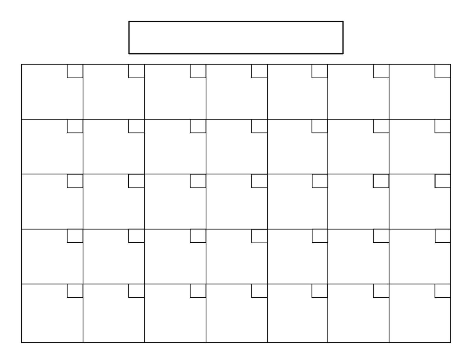 Printable 5 Day Calendar | Printable Blank Calendar, Blank with 5 Day Monthly Calendar